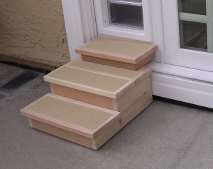 custom dog door stairs