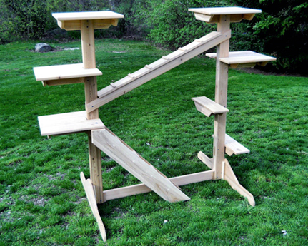 Cedar Outdoor Cat Gym