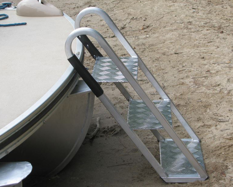 pontoon boat front boarding ladder