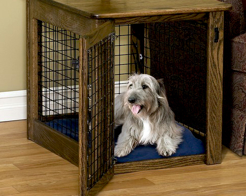 Wood Wire Dog Crate - Front Entry